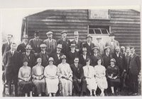 Show Committee outside the original wooden Village Hall.