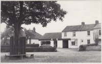 View of Village Green and Tollerton Stores ?1960s