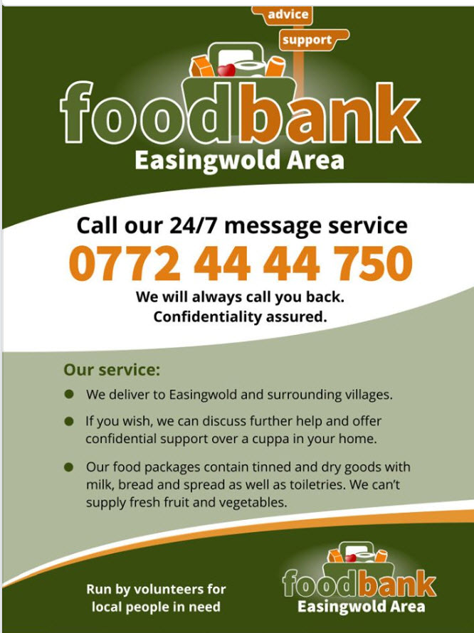 Easingwold foodbank poster